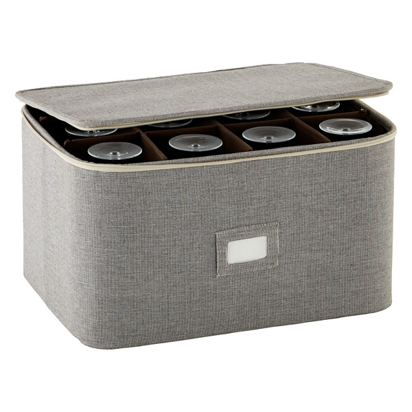 Stemware Storage Case Brown Twill
