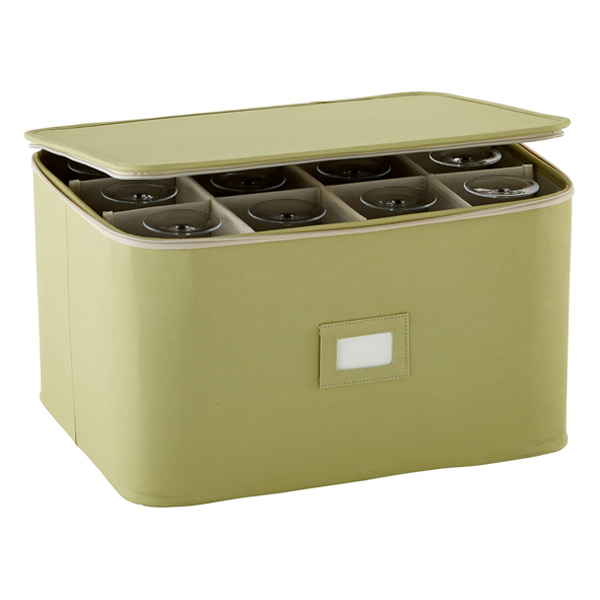Stemware Storage Case Green
