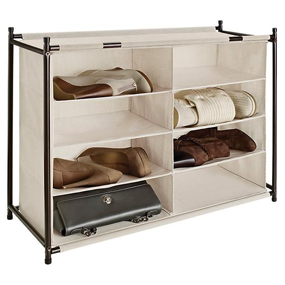 8-Section Shoe & Handbag Cubby