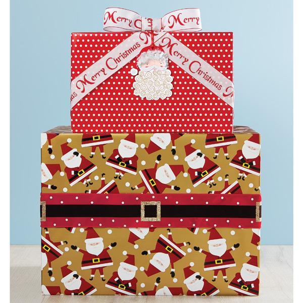 Dancing Santa Gift Wrap