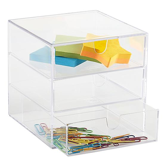 Clear 3-Drawer Box