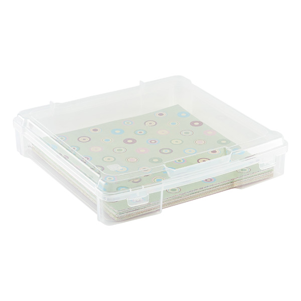 "12"" x 12"" Paper Storage Case Clear"