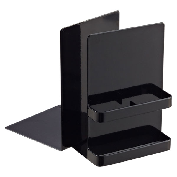 Tower Bookend Black Set of 2