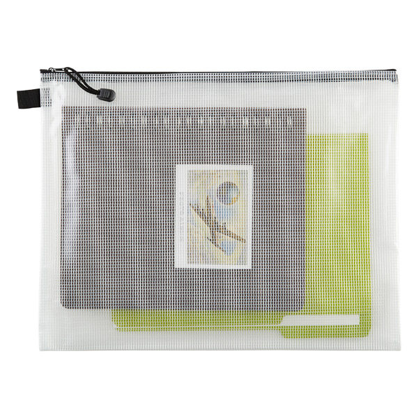 Zippered Vinyl & Mesh Pouches