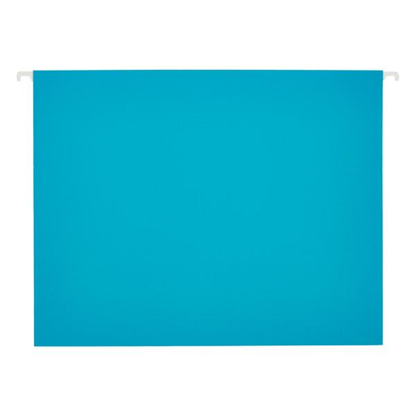 Letter-Size Hanging File Folders Turquoise Pkg/6