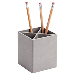 Bigso™ Grey Stockholm Divided Pencil Cup