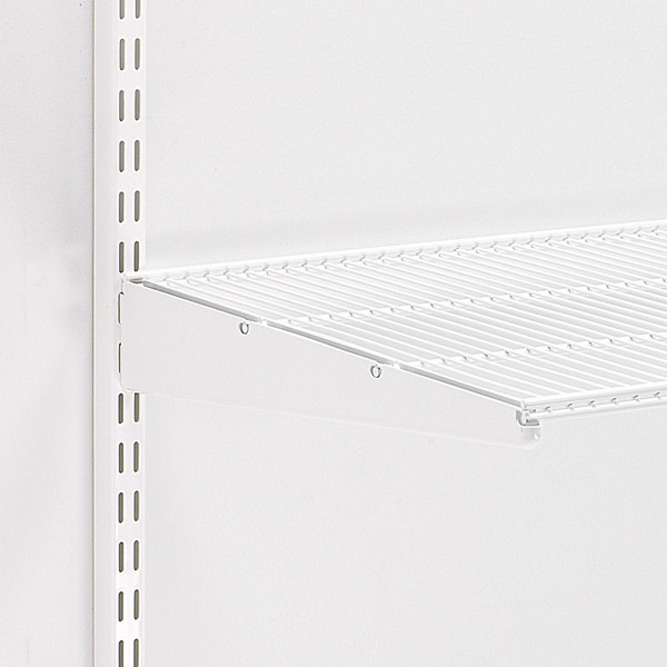 White elfa Ventilated Shelf Brackets