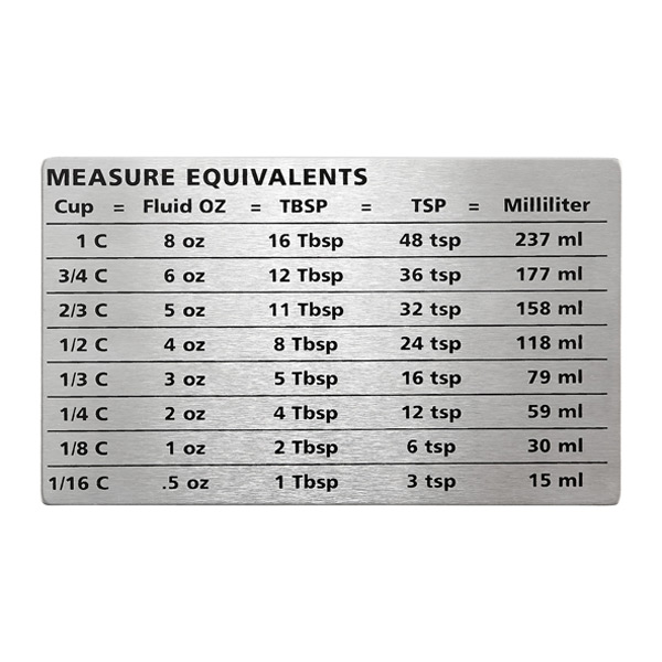Measure Equivalents Magnet Stainless