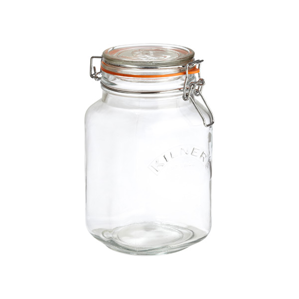 1.6 qt. Square Hermetic Canning Jar 1.5 ltr.