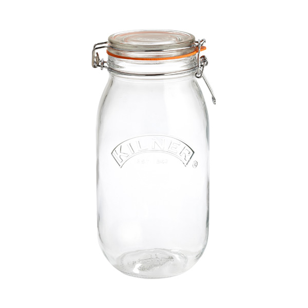 2.1 qt. Round Hermetic Canning Jar 2 ltr.