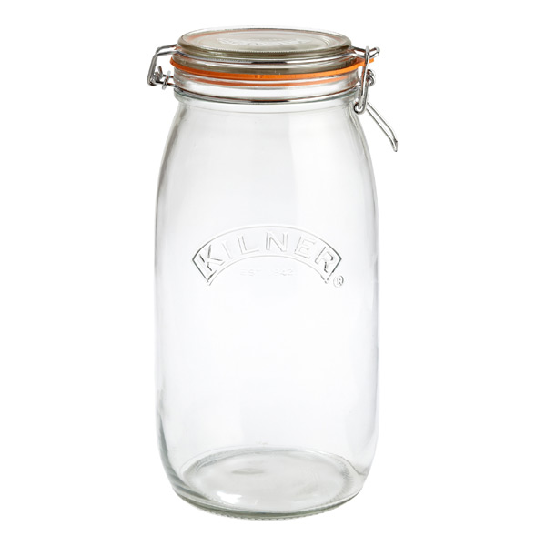 3.2 qt. Round Hermetic Canning Jar 3 ltr.