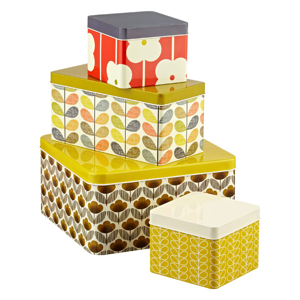 Orla Kiely Biscuit & Cracker Tin Set