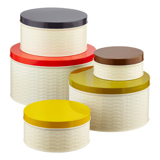 Orla Kiely Embossed Stems Round Cake Tin Set