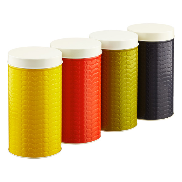 Orla Kiely Embossed Stems Round Canister