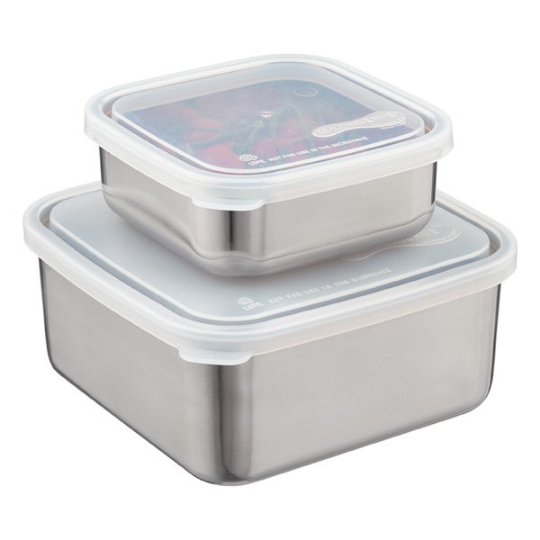 Stainless Steel Square-to-Go Containers