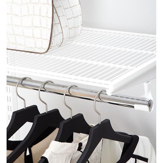 White elfa Ventilated Shelves
