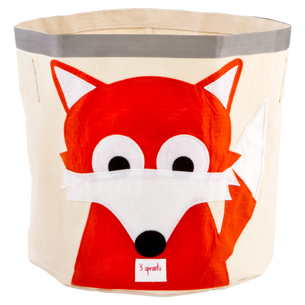 Fox Canvas Bin Grey/Orange