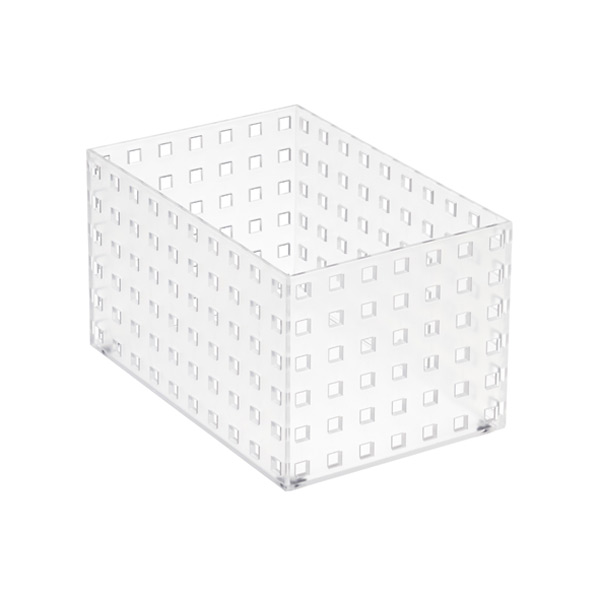 "Like-it Bricks 8-1/4"" Medium Tall Bin Translucent"