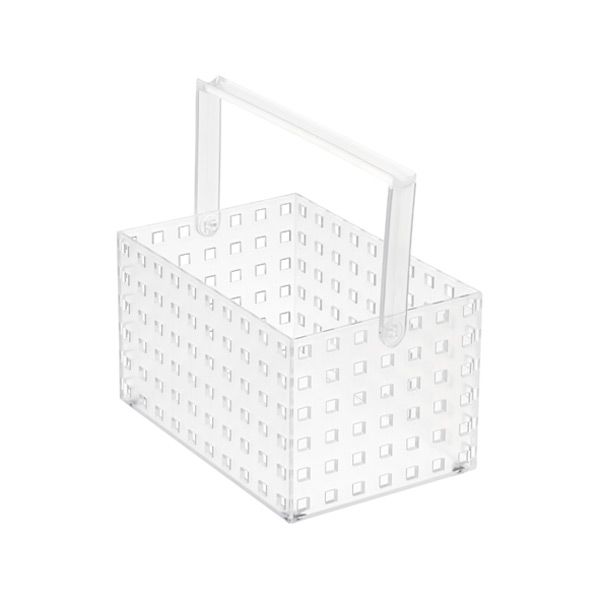 "Like-it Bricks 8-1/4"" Medium Tall Tote Translucent"