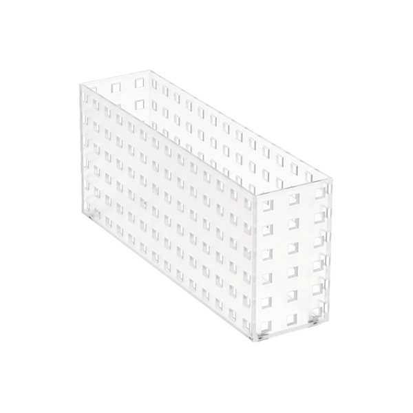 "Like-it Bricks 11"" Narrow Deep Bin Translucent"