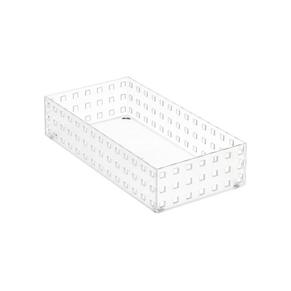 "Like-it Bricks 11"" Medium Short Bin Translucent"