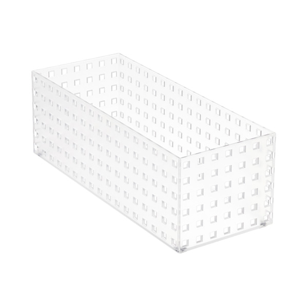 "Like-it Bricks 13-3/4"" Medium Tall Bin Translucent"