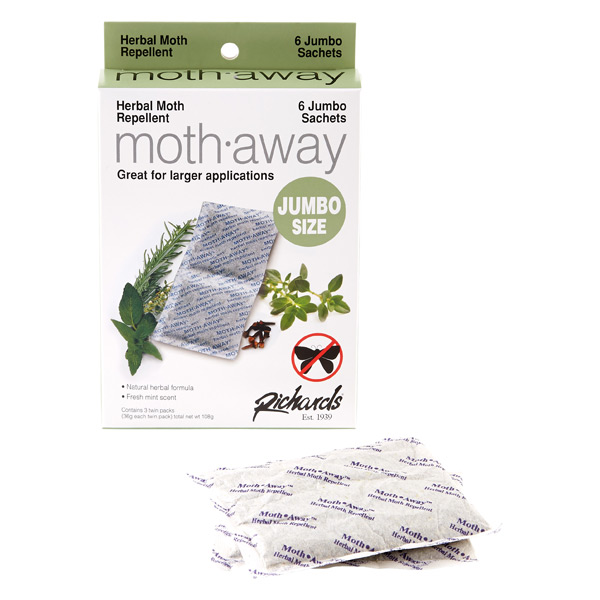 Jumbo Moth-Away Repellent Sachets Pkg/6