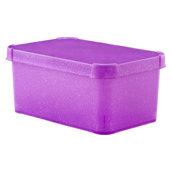 Glitter Deco Box Purple