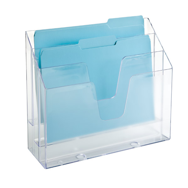Clear 3-Section Vertical File