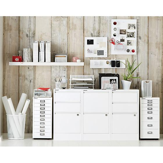 White Bisley Collection Cabinets