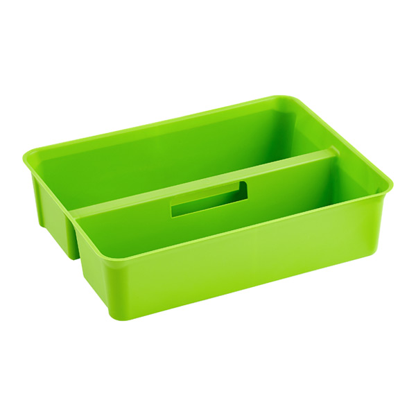 Colorwave Smart Store Handled Tray Green