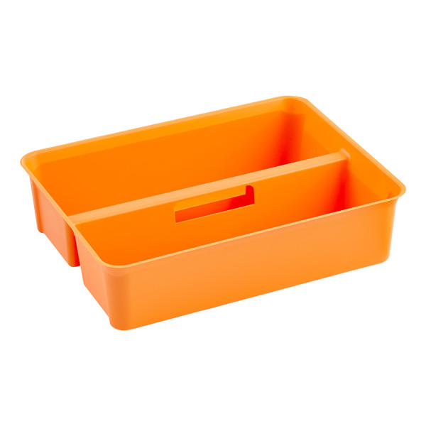 Colorwave Smart Store Handled Tray Orange