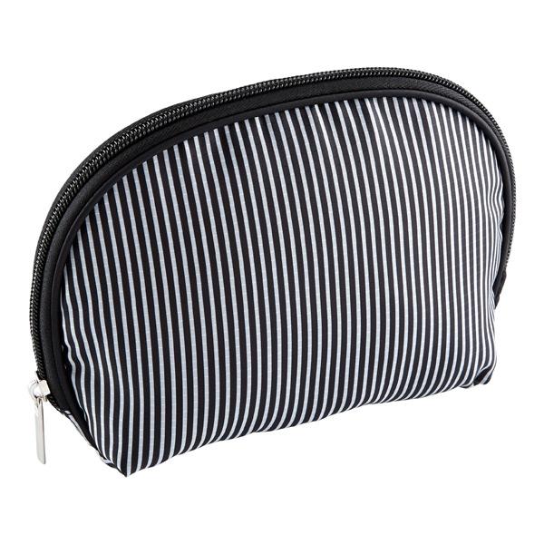 Resort Washable Cosmetics Bag Black & White Stripe