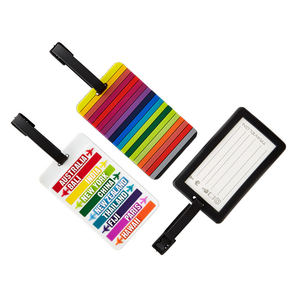 Destination Stripes Luggage Tags