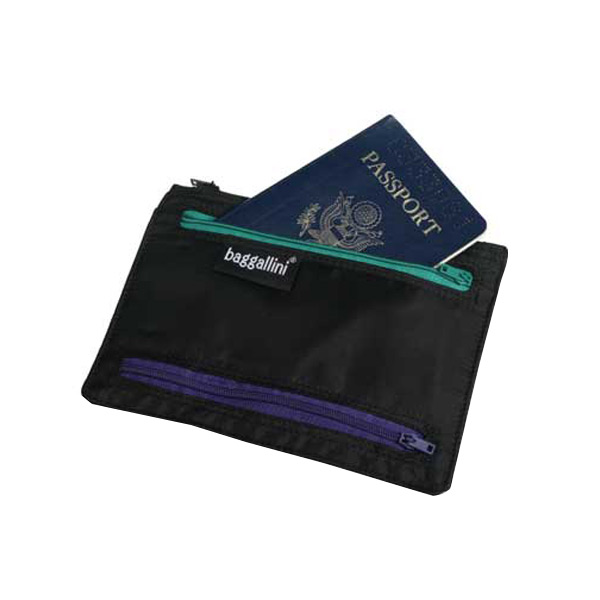 baggallini Passport & Currency Organizer Black