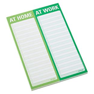 At Home/At Work Notepad