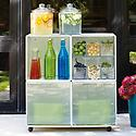 Enameled QBO® Steel Cube Drink Station