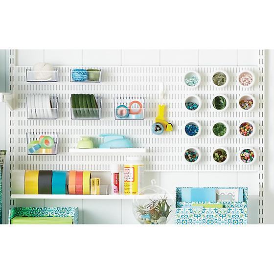 "White 4"" elfa utility Shelf/Trays"