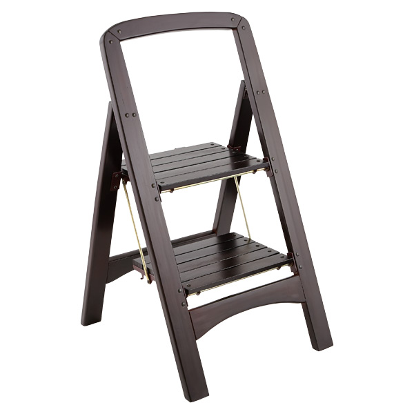 Walnut 2 Step Wooden Stool The Container Store