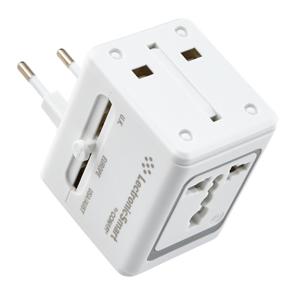 All-in-One Adapter w/ USB White