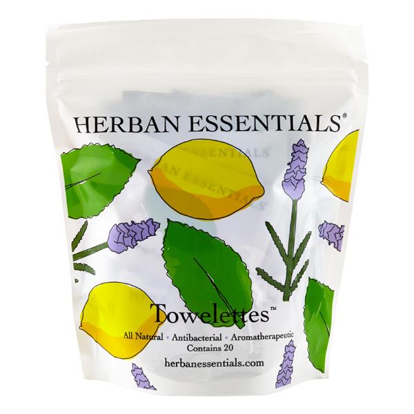 Antibacterial Towelette Wipes Lavender/Lemon/Mint Pkg/20