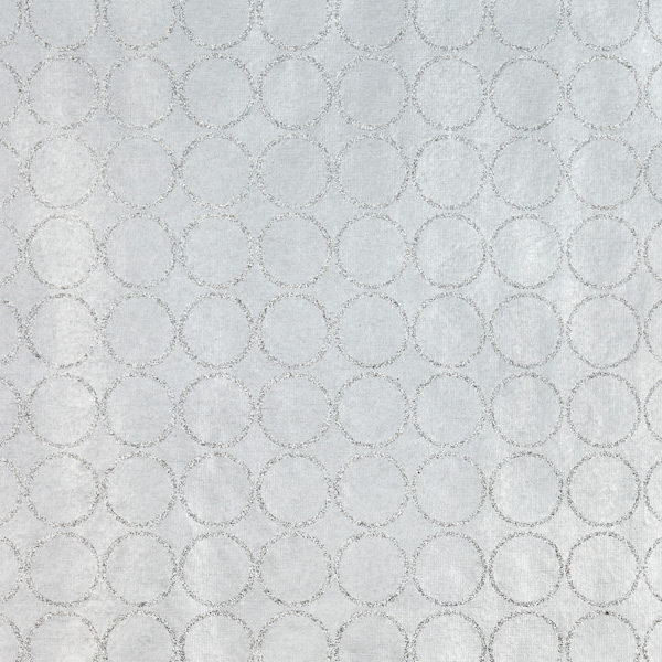 Recycled Wrap Glitter Circles Silver