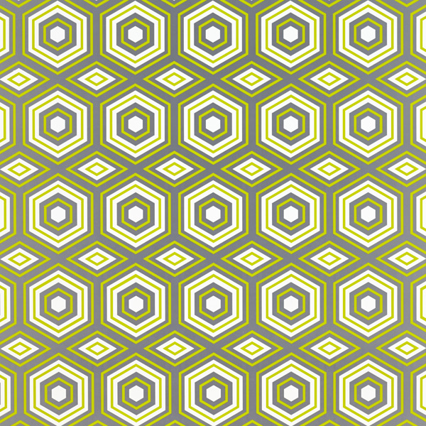 Wrap Sheets Hexagon Tile Citrine/Gray Pkg/2