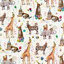 Wild Birthday Animals Gift Wrap