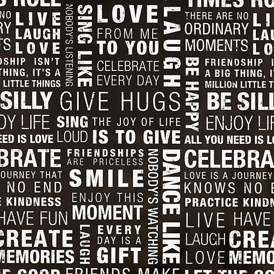 Inspired Words Gift Wrap