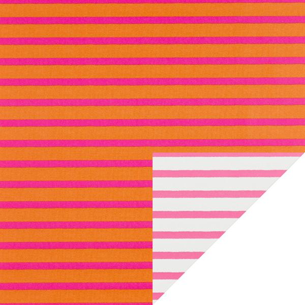 Reversible Wrap Stripes Pink/Orange/White