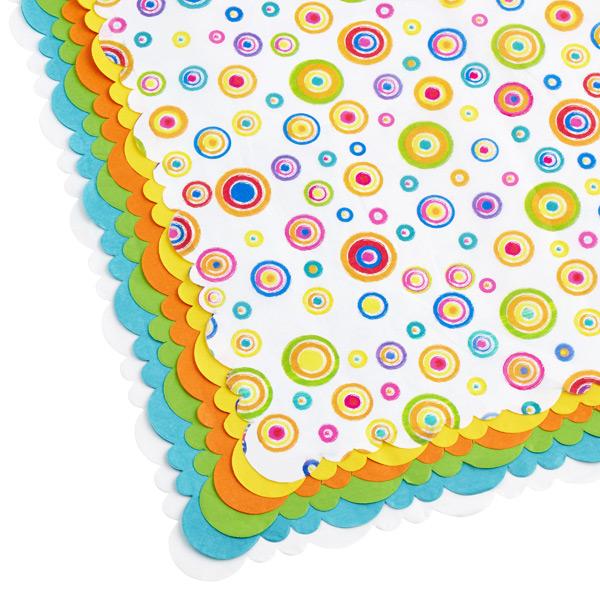 Tissue Sheets Circles/Brights Pkg/24