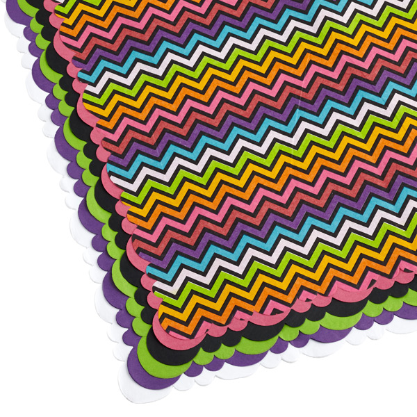 Tissue Sheets Chevron Rainbow Pkg/24