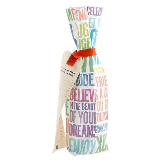 Sentiment Reusable Wine Bag