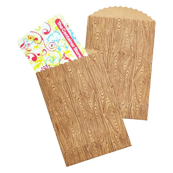 Mini Kraft Bags Woodgrain Pkg/10